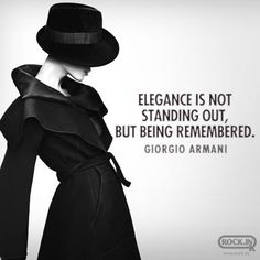 Elegance is not standing out, but being remembered | Giorgio Armani. Discover products you love at getrockerbox.com