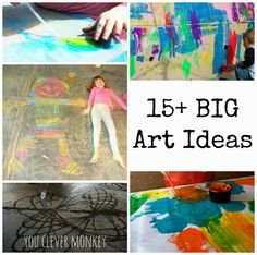 Big Art - fun art activities that will get kids moving while making.