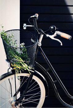 black bike & basket