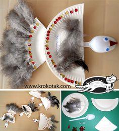 Paper plate birds plate bird, primavara, krokotak, papers, preschool paper plate crafts, vogel, birds, kid, craft preschool paper plates