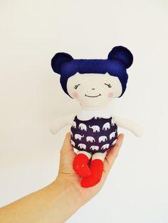 Pocket Size Doll Rag by TashiBear,