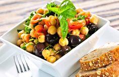 Greek Garbanzo Bean & Veggie Salad