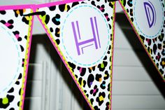 RAINBOW LEOPARD pennant banner  You Print  by PrettyPartyCreations, $8.50