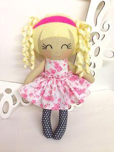 Rag Dolls Handmade Doll Fabric Doll Cloth Doll by SewManyPretties, $45.00 #babygirl #girlbirthday #girlgift Dolls