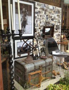 Watson Kennedy fall 2012 window display using vintage photos for inspiration. #windowdisplay