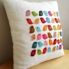 pillow with cute birdies
