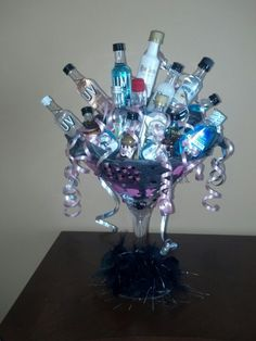21st birthday in a glass <3 LOVE ITTT!
