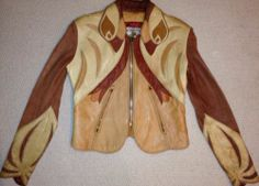 EAST WEST LEATHERS musical Instruments Rare PARROT Leather jacket AUTHENTIC