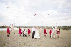Such a fun shot!   #weddingparty #weddings #brideandgroom #dallasweddings #frisco #ftworth #photographer #weddingphotography #fun
