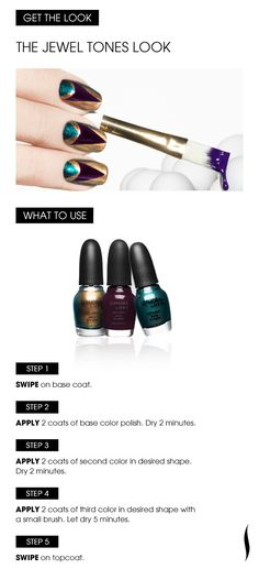 Learn How: The Jewel Tones Look. Shades: OPI Age Is Just A Number, Caffeine Fix and Teal We Meet Again.