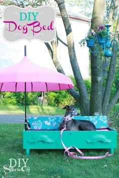 DIY {dresser drawer} Dog Bed