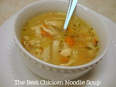 chicken recipes, chicken noodle soups, shred chicken, homemade soups, homemade noodles