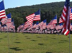 A flag for every life that was taken on this day 10 years ago... 9-11-11 Memorial at Kennesaw Mountain, Georgia