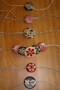 Como hacer una pulsera de hilo con botones