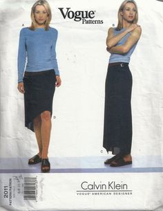 Vogue Skirt and Top Pattern 2011 sizes 6 8 10 by SewReallyCute, $25.00