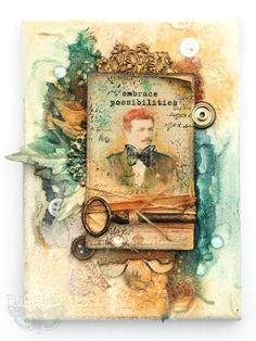 Cabinet card canvas