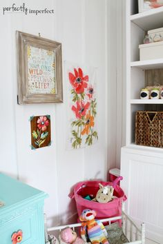Girl's Room Wall Art + Design | perfectly imperfect