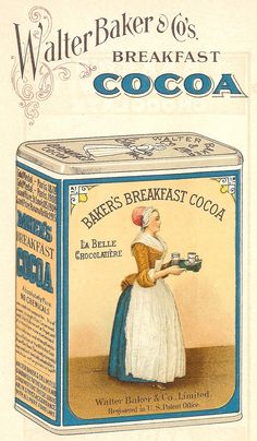 Knick of Time: Antique Graphics Wednesday - 1923 Baker's Chocolate and Cocoa Images