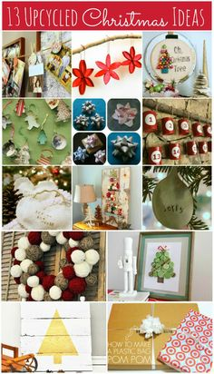 13 Upcycled Christmas Ideas