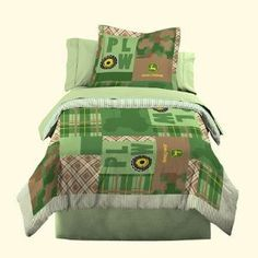 john deere bedroom ideas- really like this bedding @Marleen Chappell