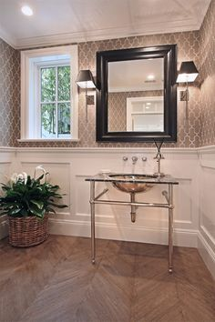 Wainscoting (powder room)