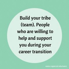 Do you have a tribe? #CareerChangers