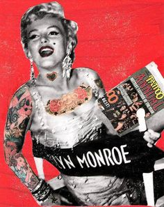 Tattooed Marilyn by mrsnoggle on Etsy, $5.00