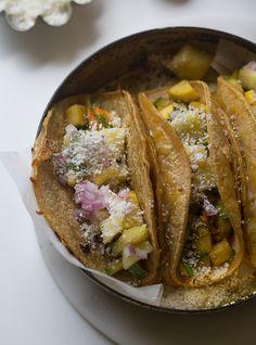 Summer Squash QuesaTaco (Quesadilla + Taco) // www.acozykitchen.com