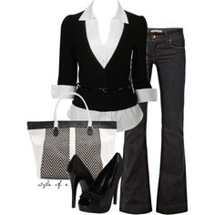 """Black and White"" by styleofe on Polyvore"