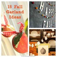 15 Fall Garland Ideas {DIY Decor}...oh my goodness!  I love these! #diy #fall
