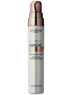 One of my new favorite products - magic lumi light infusing primer by L'Oréal Paris.  Great for inner corners of eyes, under browline, and cheekbones.  Also blends great with foundation.  I love it.