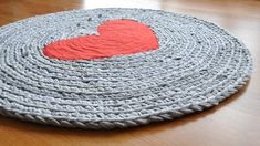 Upcycled Rug using T-shirts