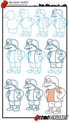 Aprende a dibujar a Nelson Muntz paso a paso: http://www.comodibujar.es/tutoriales-dibujo/como-dibujar-a-nelson-muntz/