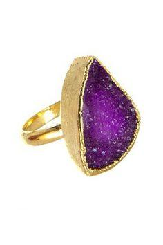 Medium Druzy Ring