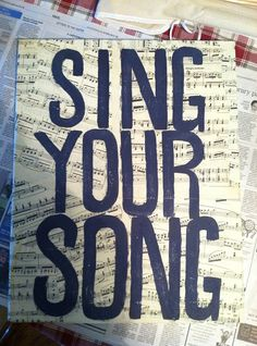 """Custom Canvas Painting """"Sing Your Song"""""""