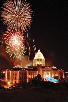 Arkansas State Capitol Christmas lights, Little Rock #AETN #BeMore
