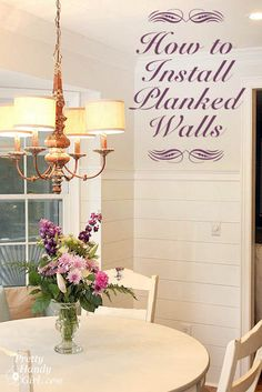Love this look! How to Install Planked Walls - a tutorial @pretty things things Handy Girl