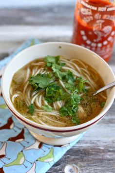 asian chicken noodle soup-Pho