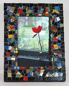 mosaic picture frames diy, mosaic tile, tile frame, pictur frame, mosaic magic