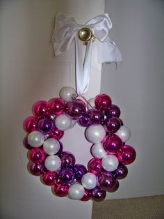 ball wreath, raising kids, christmas crafts, wire hangers, ornament wreath, holiday ball, christmas ornaments, neiman marcus, wreaths