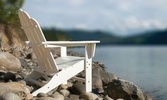 White outdoor furniture. Perfect for a relaxing day at the lake. Comes in multiple colors.