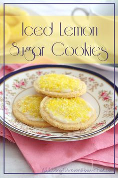 Low Carb Lemon Sugar Cookies with Homemade Sugar-Free Sprinkles | All Day I Dream About Food