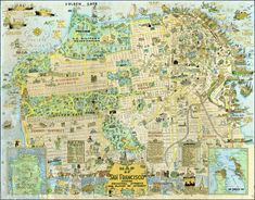 1927 tourist map of San Francisco