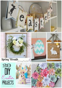 Great Ideas -- 20 DIY Easter Projects! -- Tatertots and Jello #DIY #Easter