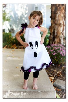 Dollar Store ghost pillowcase dress - $4 to make