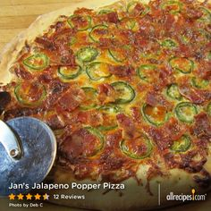 Jan's Jalapeno Popper Pizza   All the goodness of jalapeno poppers in a pizza topping. Yes!