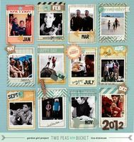 A Project by bluestardesign from our Scrapbooking Gallery originally submitted 01/01/13 at 07:59 AM galleri, project life, pea, lisa dickinson, layout design, bucket, scrapbook idea, scrapbook layout, journal cards