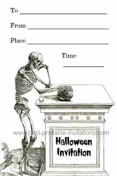 Spooky Halloween Invitations - Free Printable Invites
