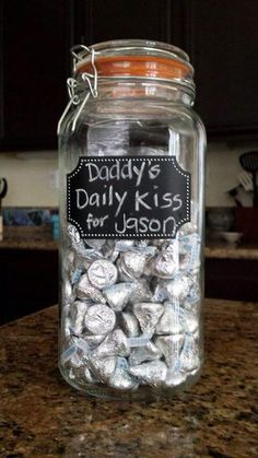 Daily Kisses! This is how one Mom from our FB community is helping her 2 year old understand and feel connected during Daddy's deployment.