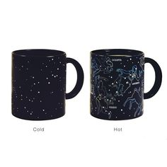 The Constellation Mug reveals constellations when it is hot.
